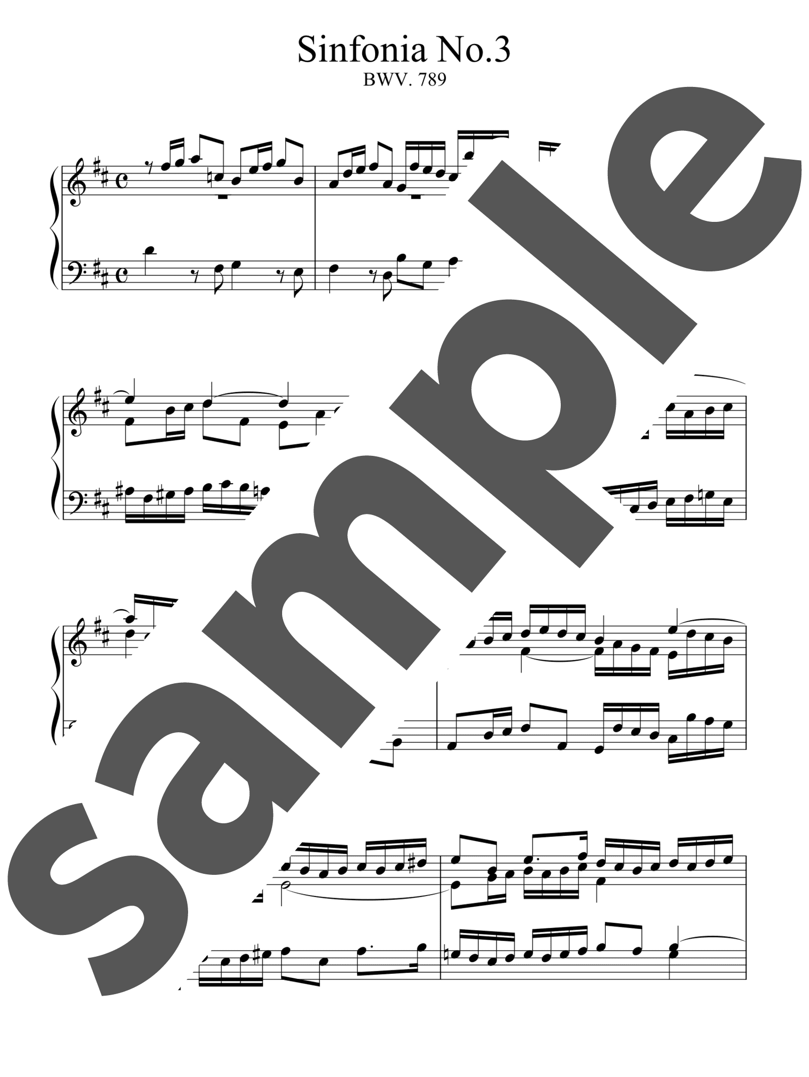 「シンフォニア第3番」のサンプル楽譜