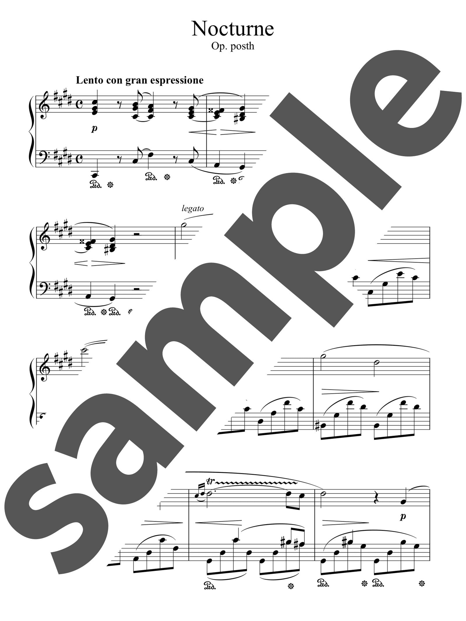 「ノクターン op.posth」のサンプル楽譜