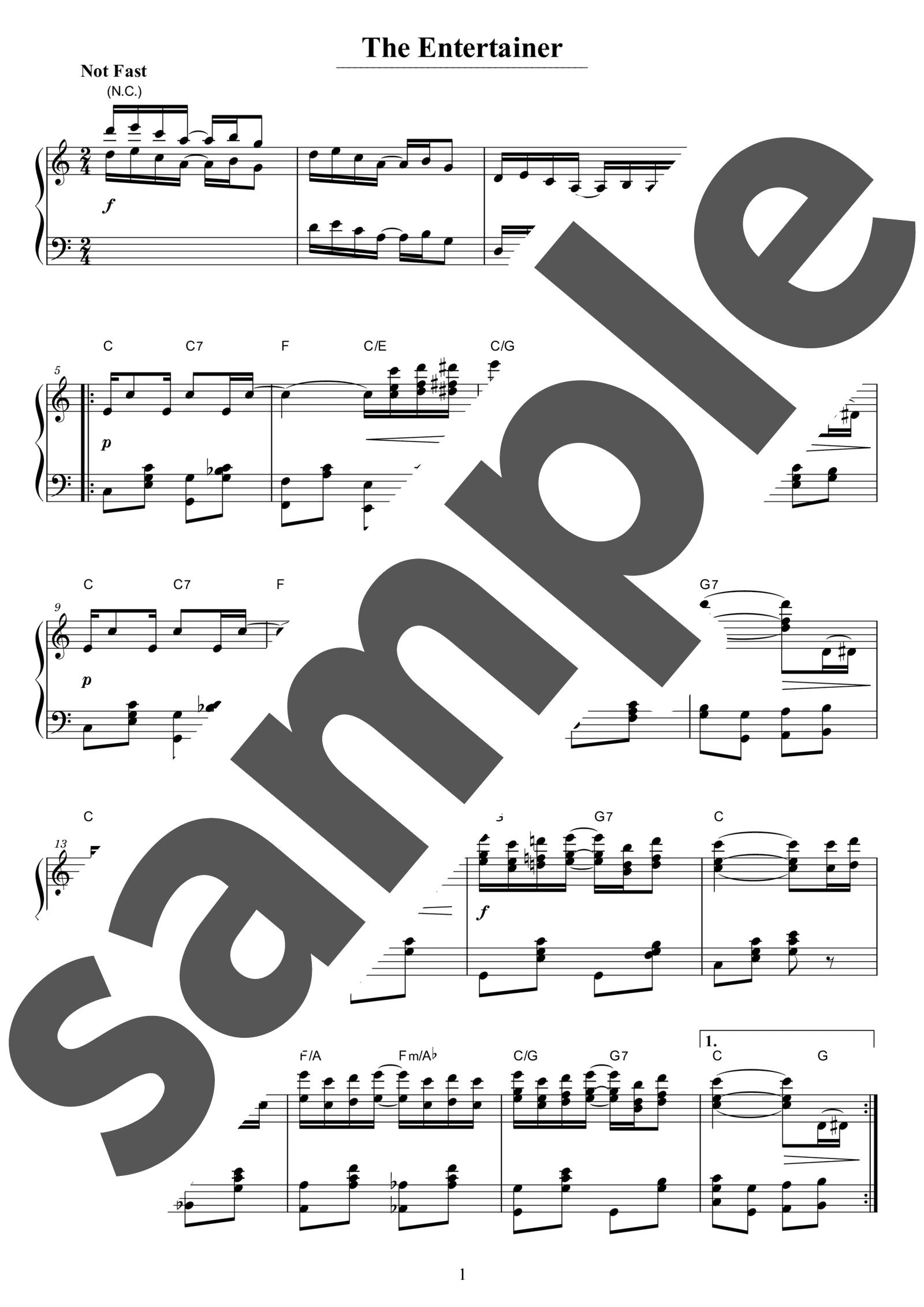 「エンターテイナー」のサンプル楽譜