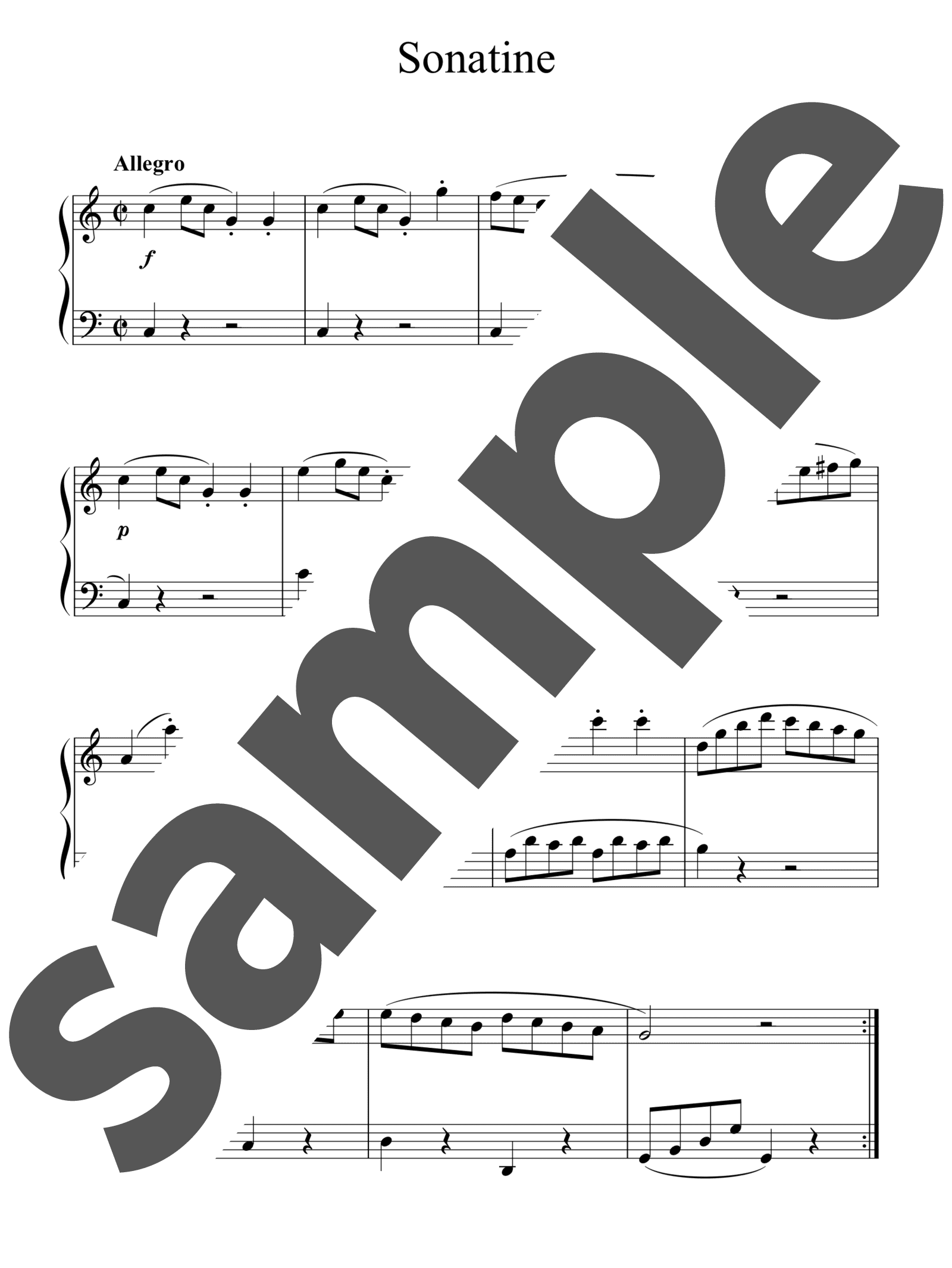 「Sonatine Op.36-1」のサンプル楽譜