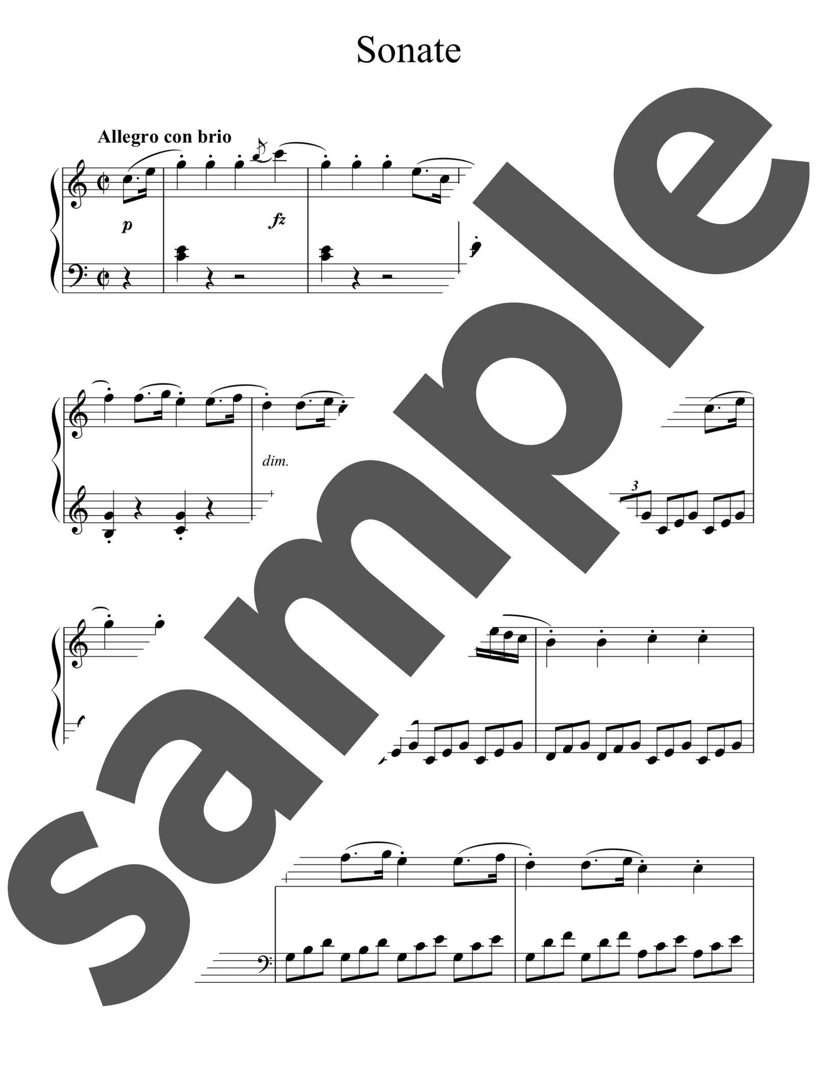 「ピアノソナタ第35番ハ長調」のサンプル楽譜