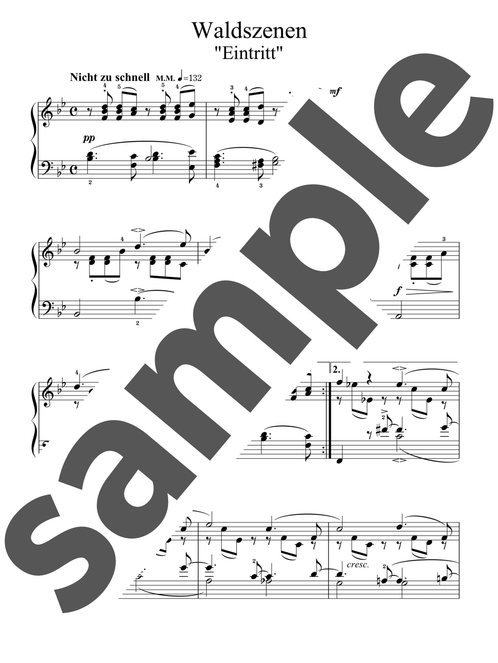 「「森の情景」より「森の入り口」」のサンプル楽譜