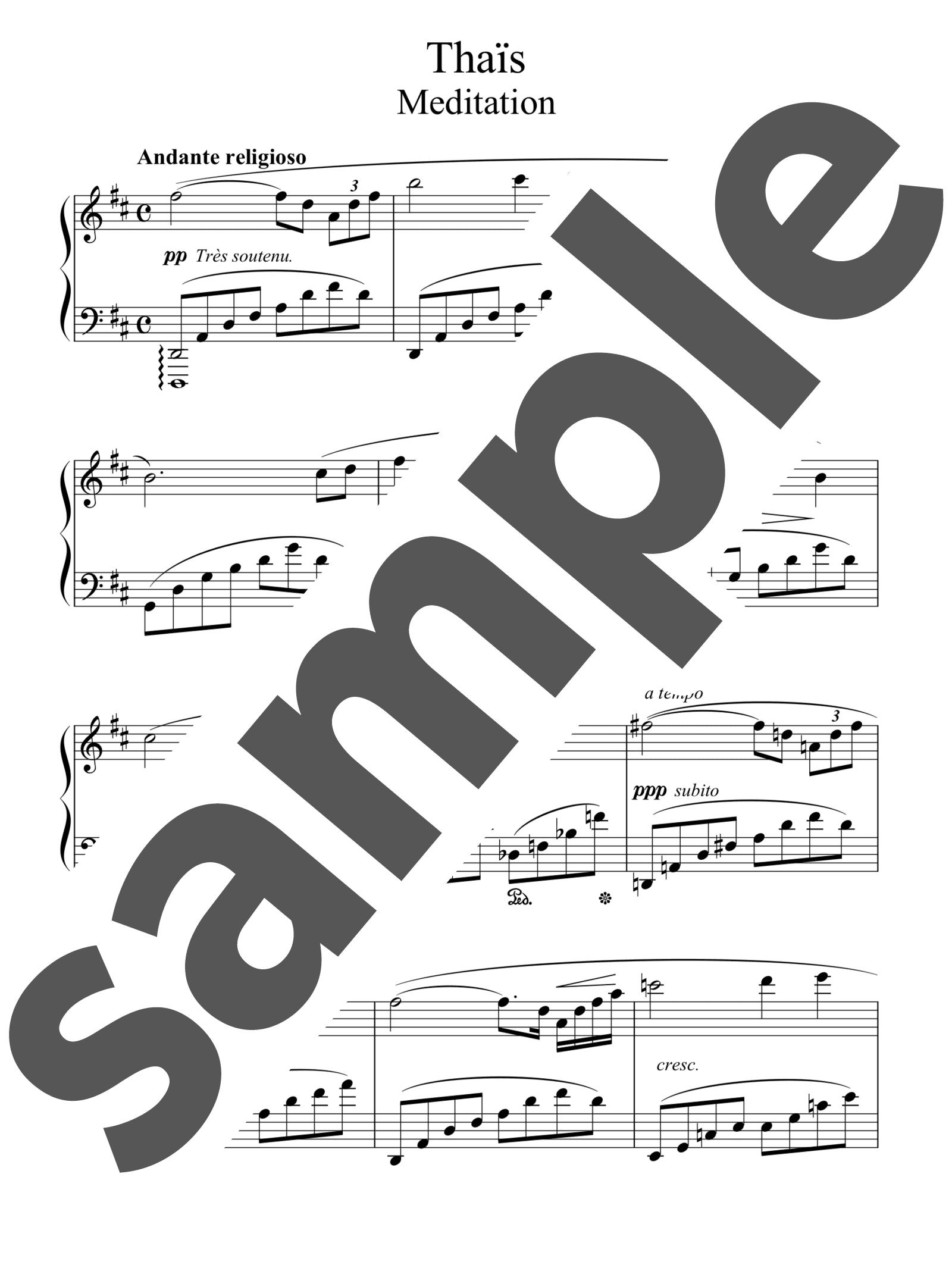「タイスの瞑想曲」のサンプル楽譜