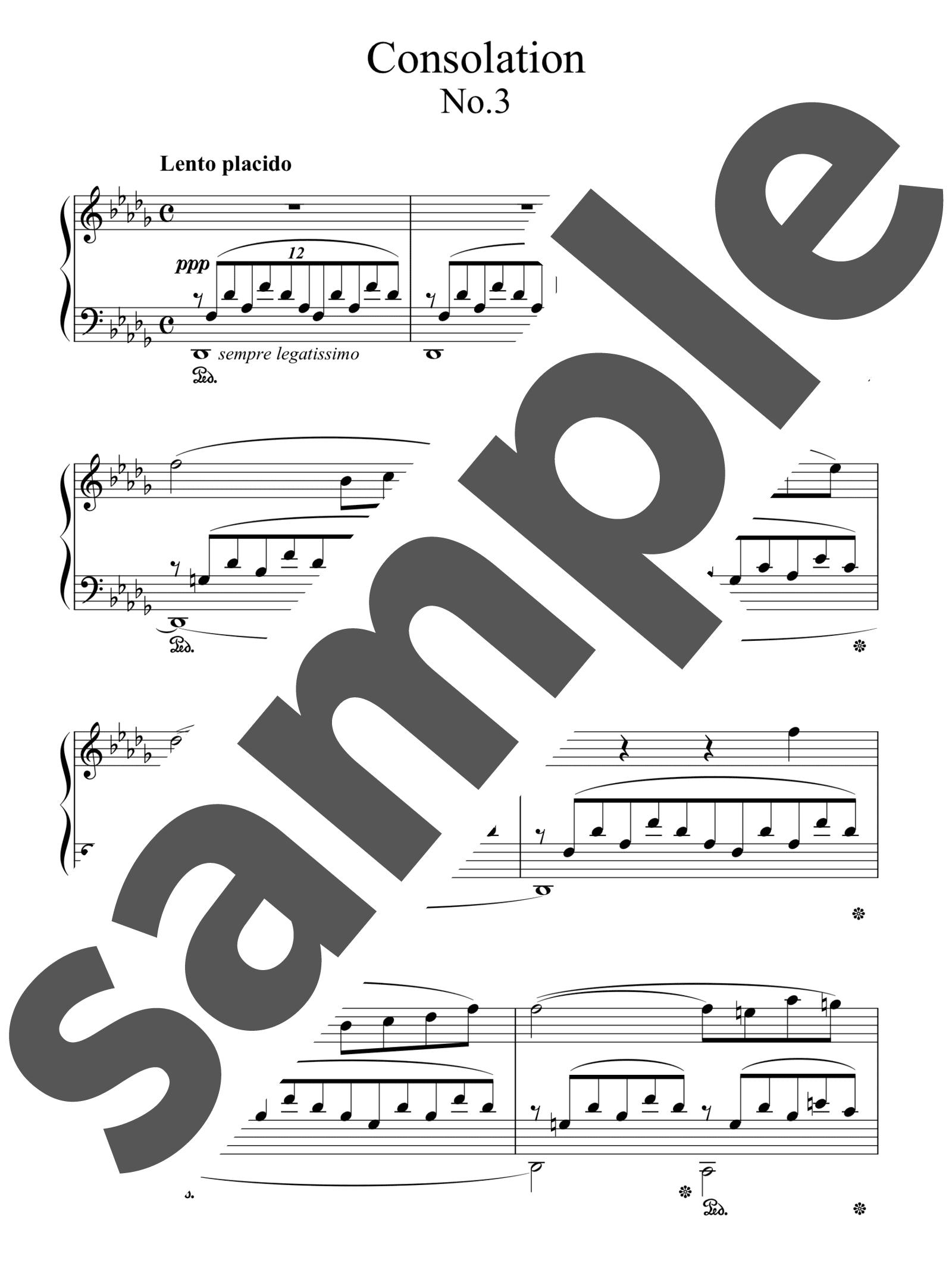 「コンソレーション 第3番」のサンプル楽譜