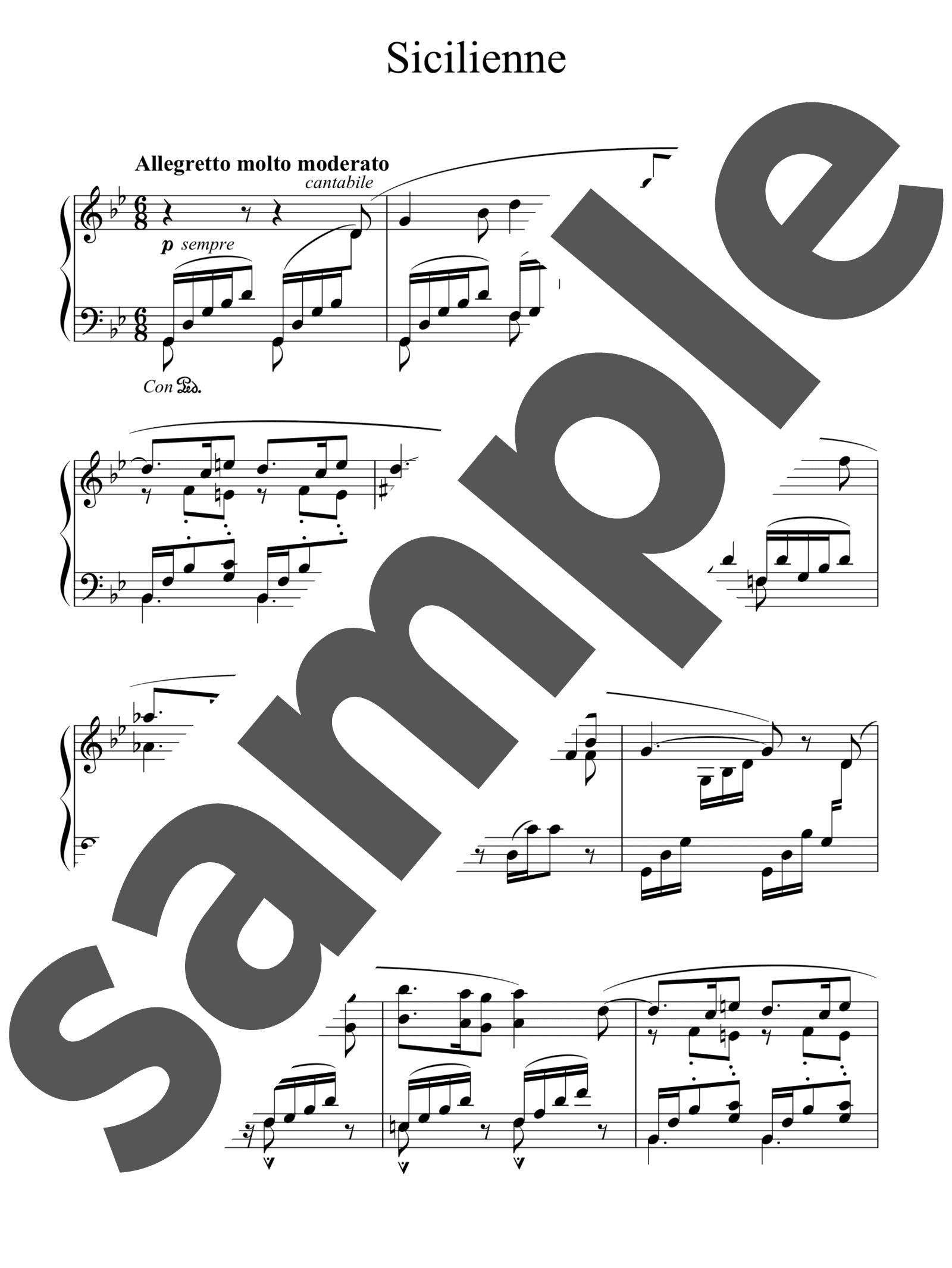 「シシリエンヌ 作品78」のサンプル楽譜