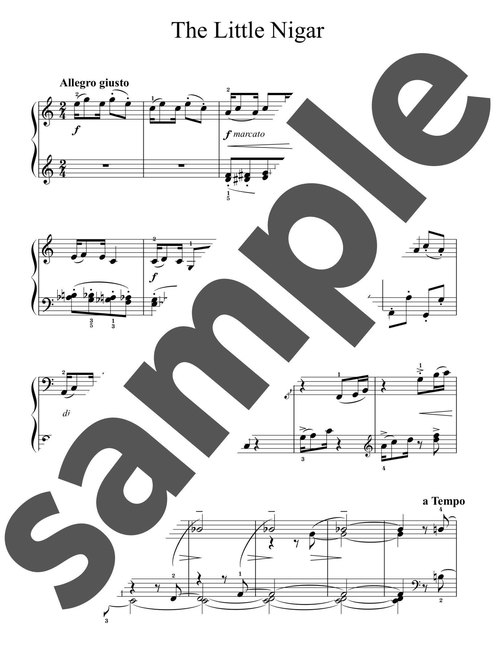 「小さな黒人」のサンプル楽譜