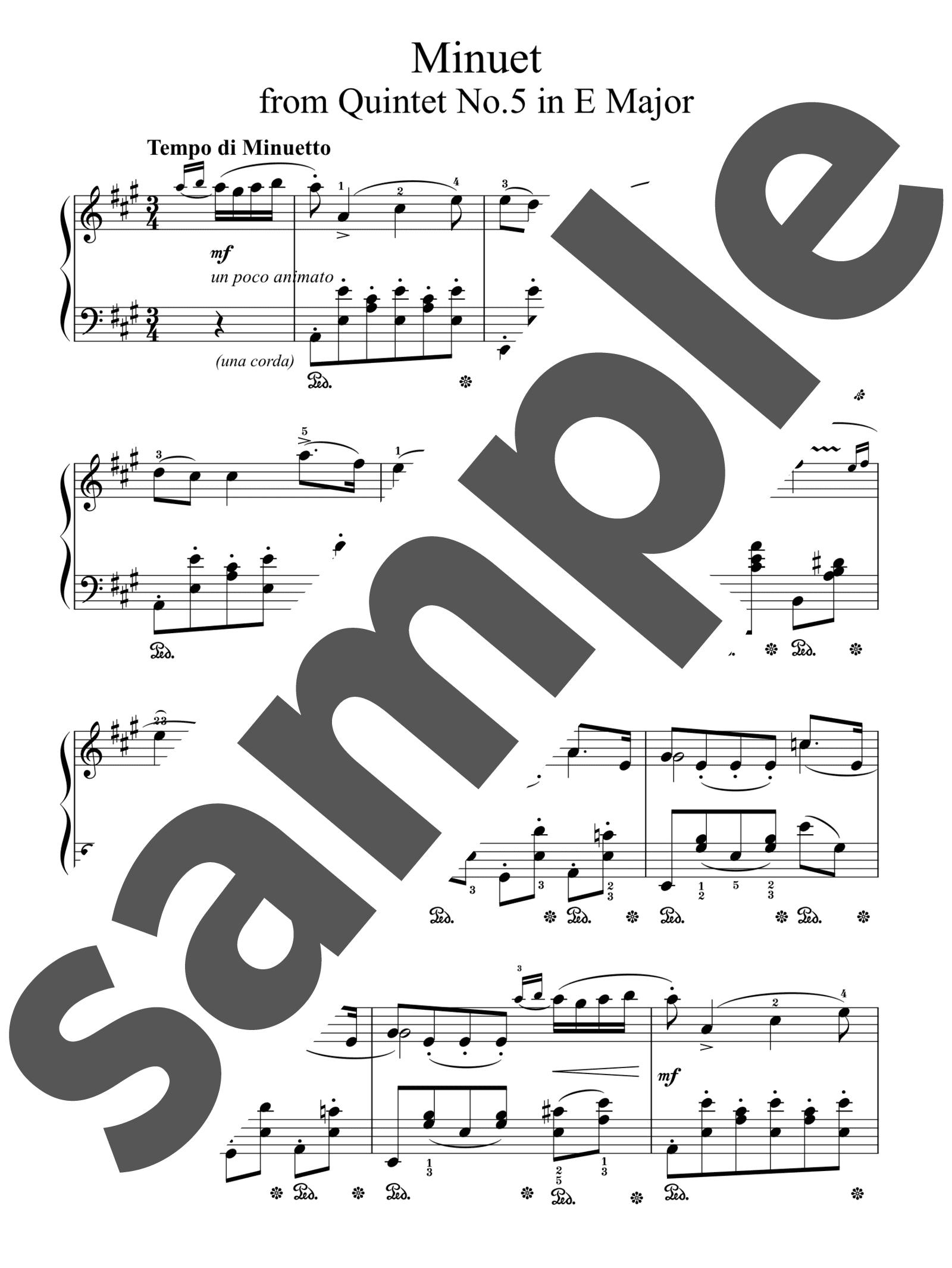 「ボッケリーニのメヌエット」のサンプル楽譜
