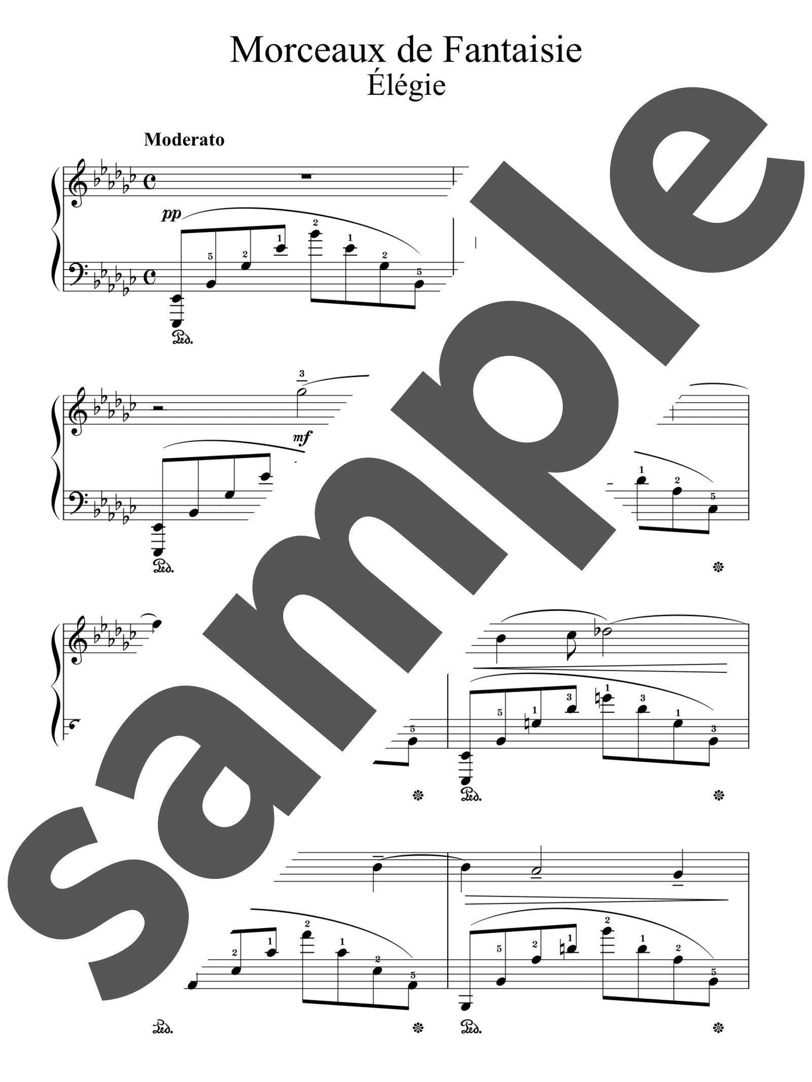 「幻想的小品集より第1番 悲歌(エレジー)」のサンプル楽譜