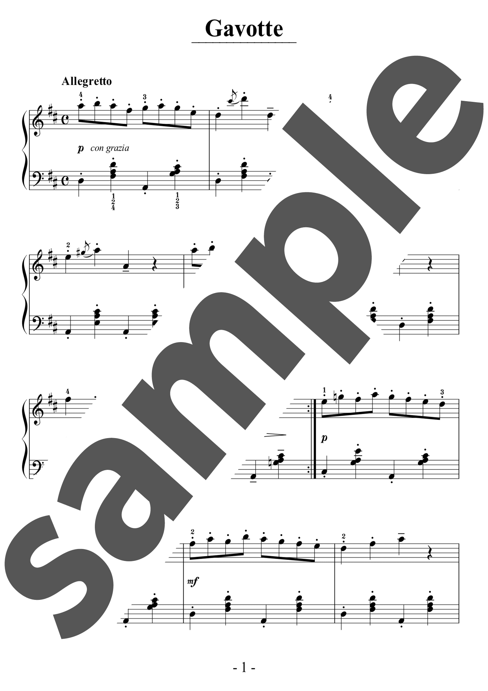 「Gavotte」のサンプル楽譜