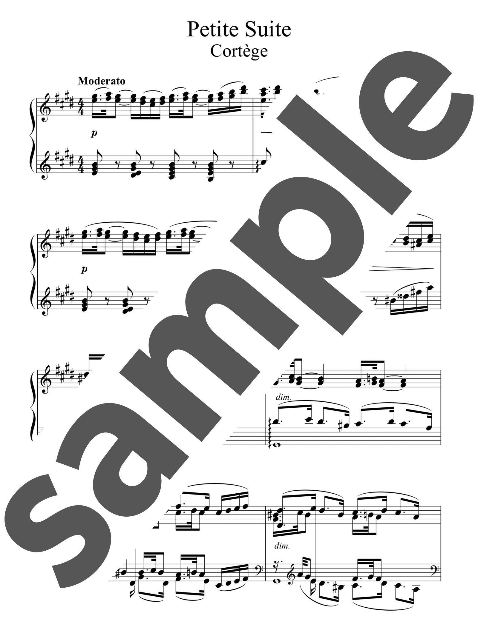 「「小組曲」より行列」のサンプル楽譜