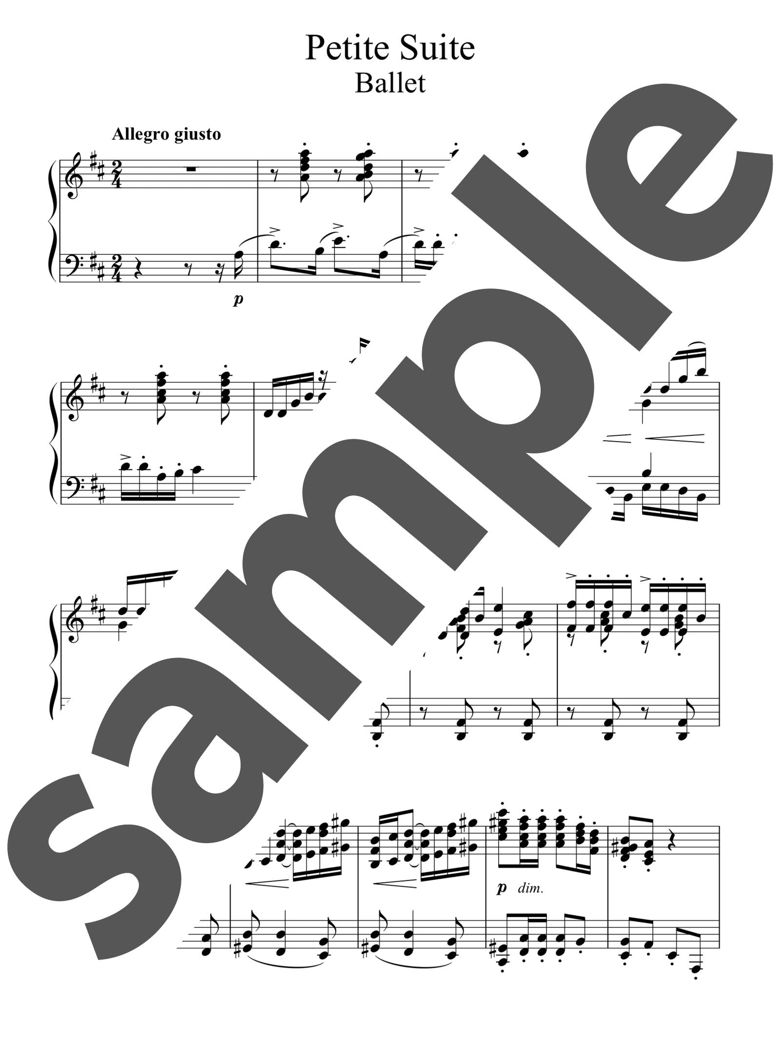 「「小組曲」よりバレエ」のサンプル楽譜