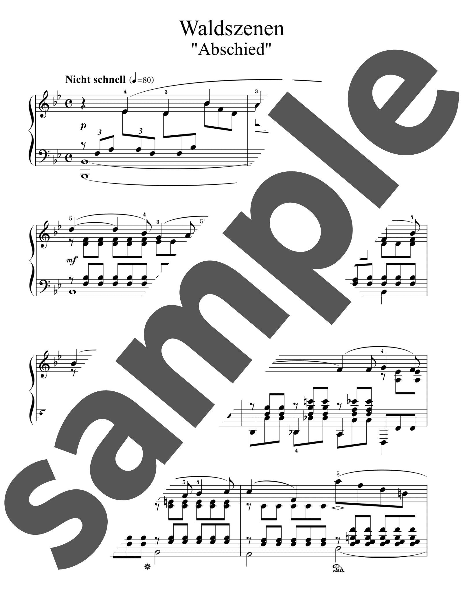 「「森の情景」より 別れ」のサンプル楽譜