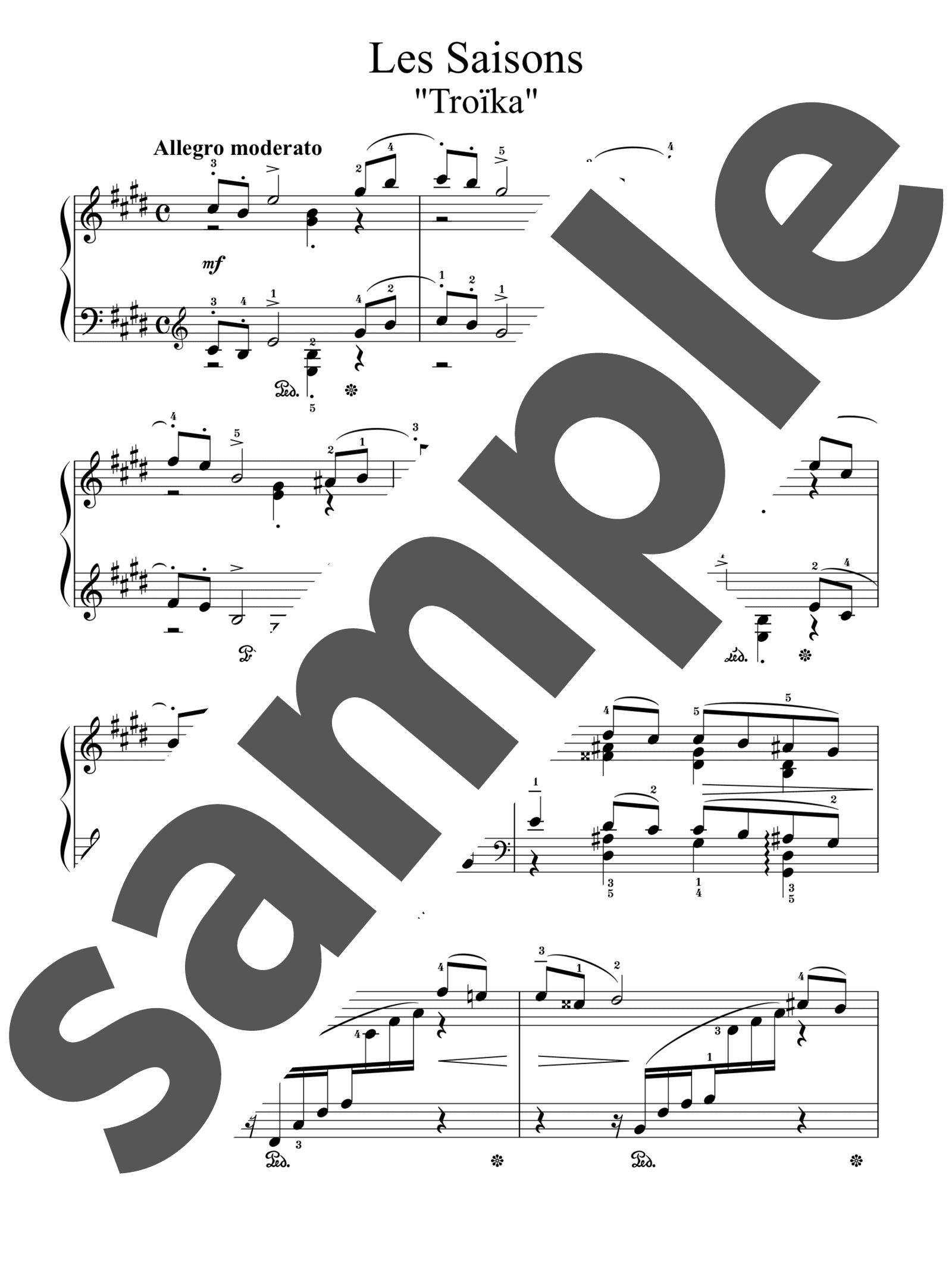 「「四季」より11月「トロイカ」」のサンプル楽譜