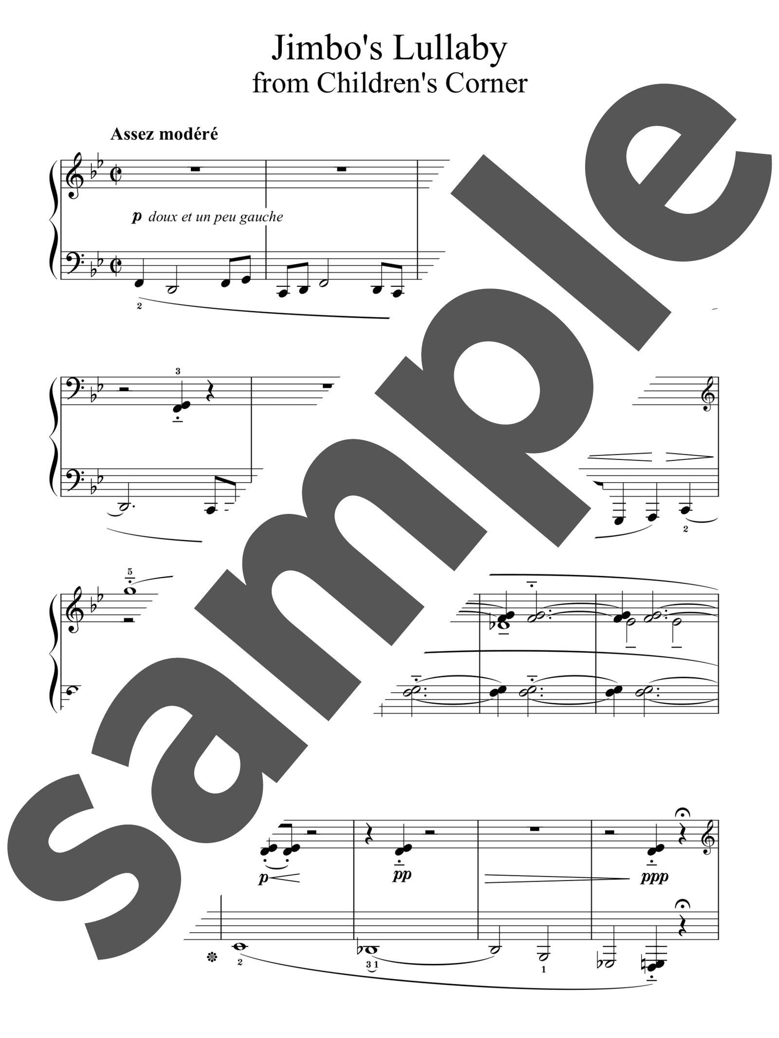 「ジンボーの子守歌」のサンプル楽譜