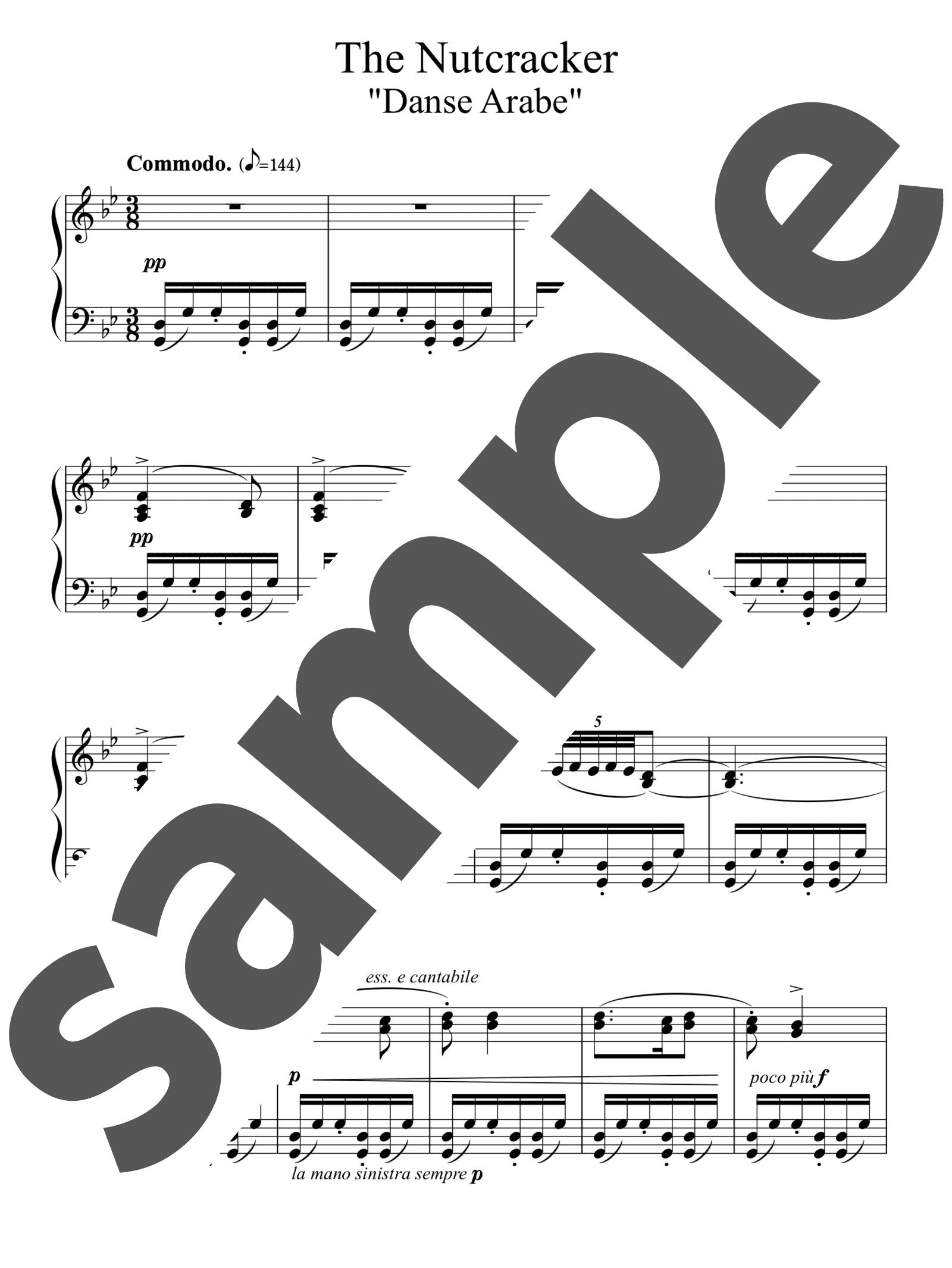 「アラビアの踊り」のサンプル楽譜