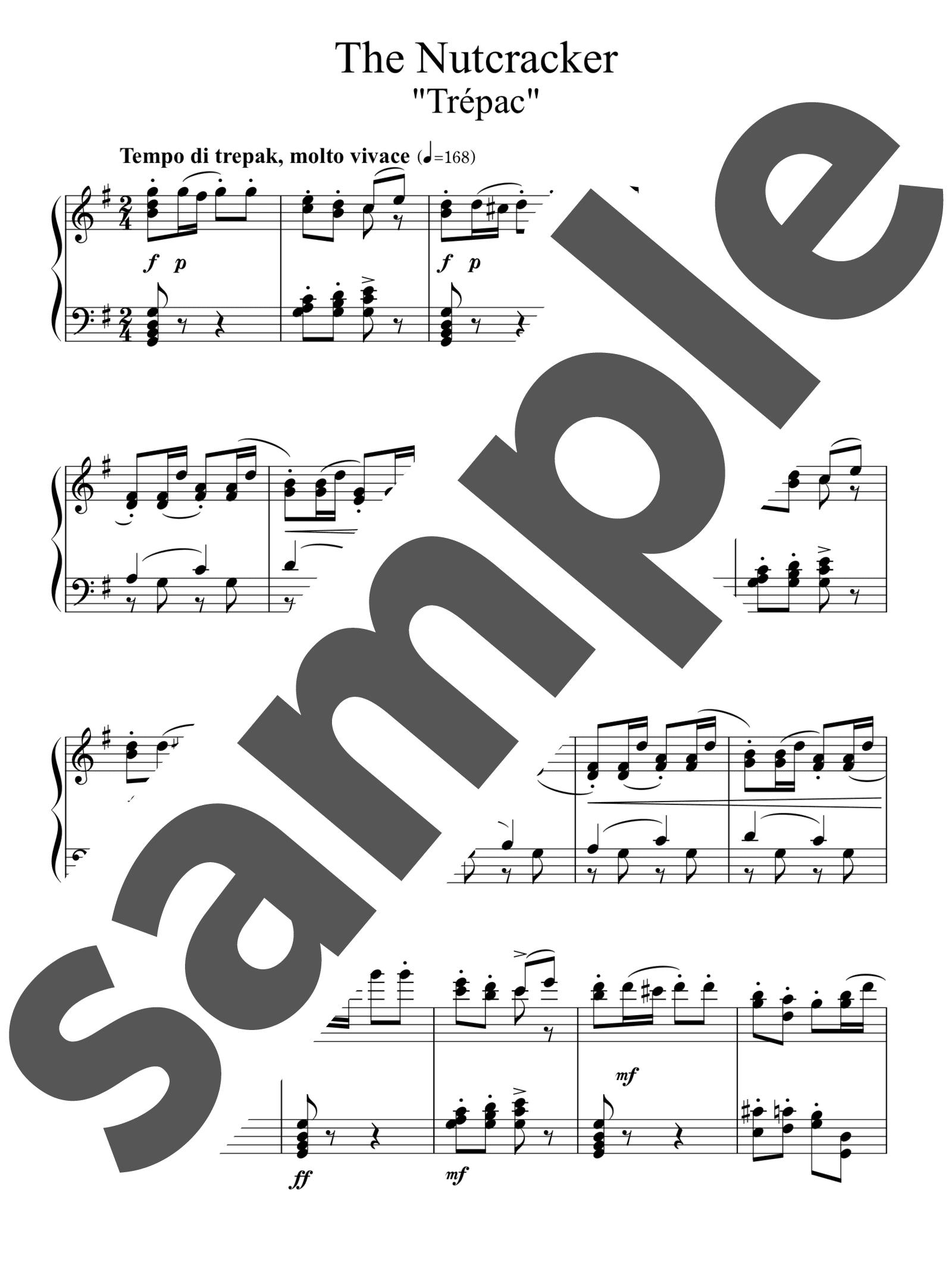 「「くるみ割り人形」よりトレパック」のサンプル楽譜
