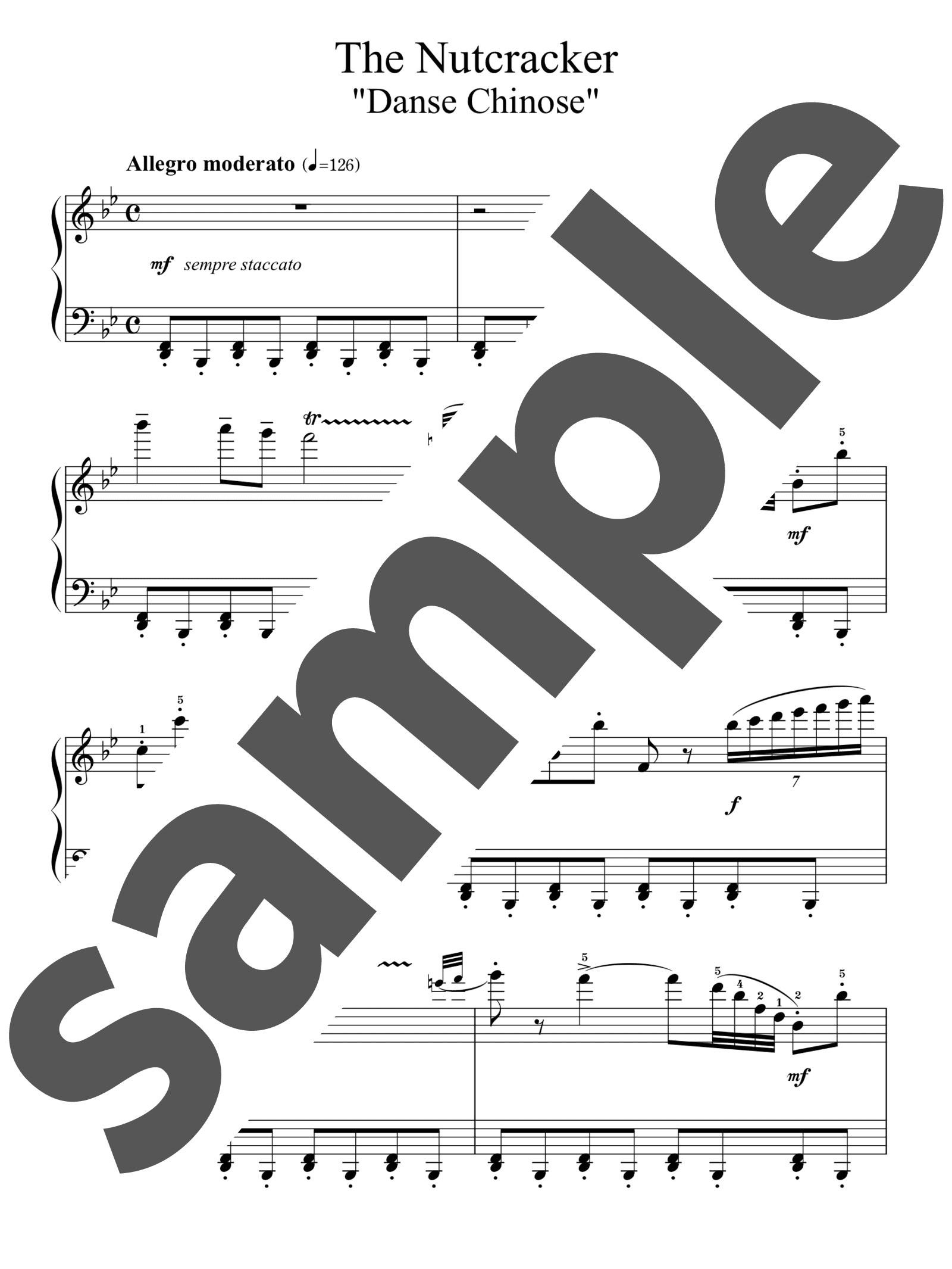 「中国の踊り」のサンプル楽譜