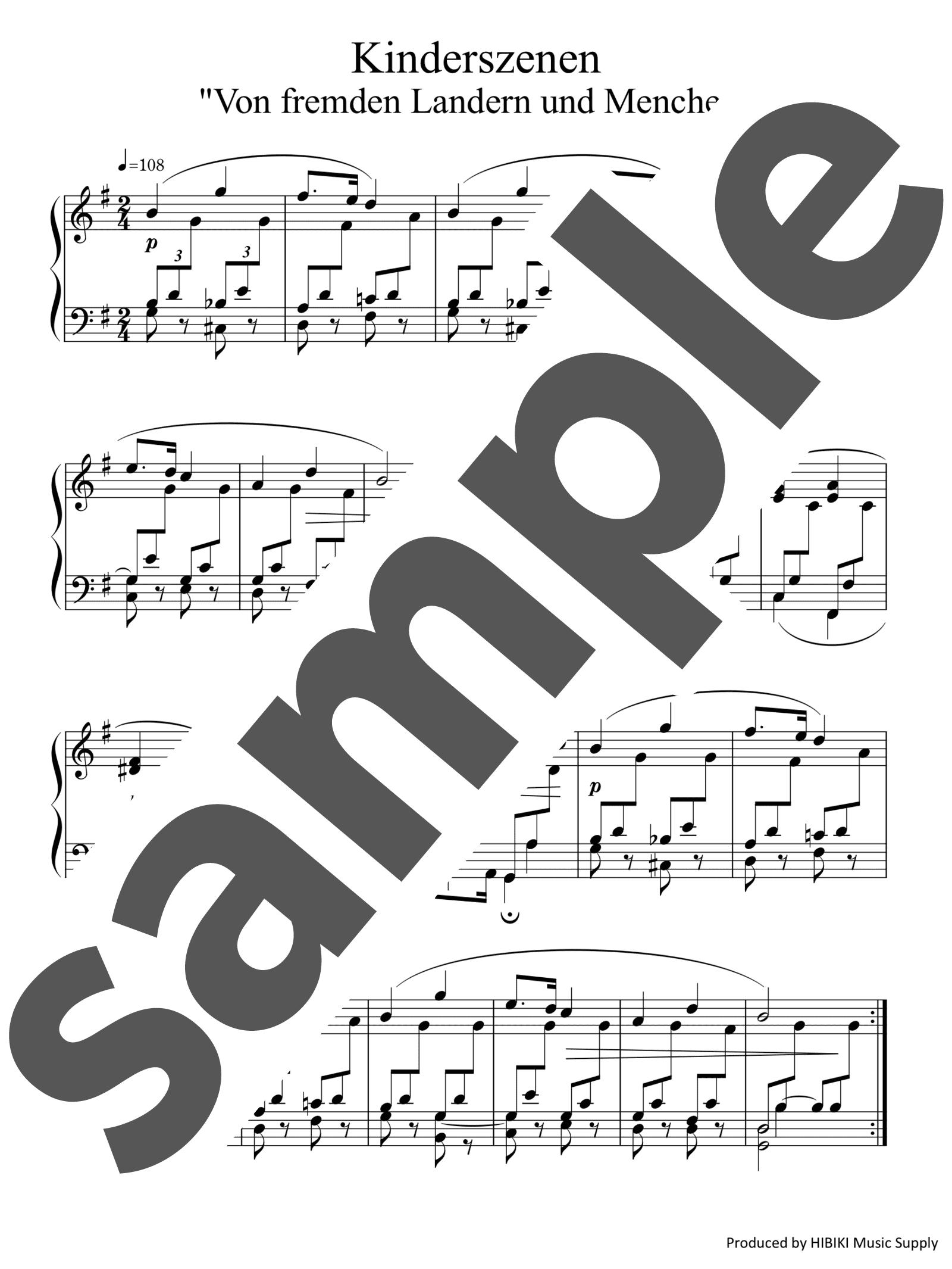 「見知らぬ国から」のサンプル楽譜