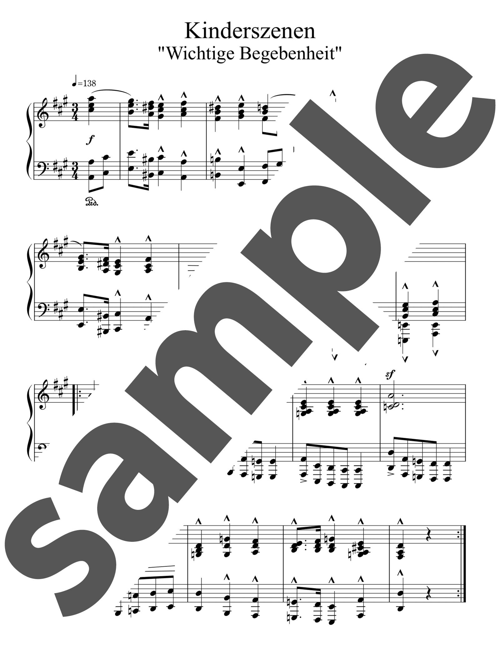 「重大な出来事」のサンプル楽譜