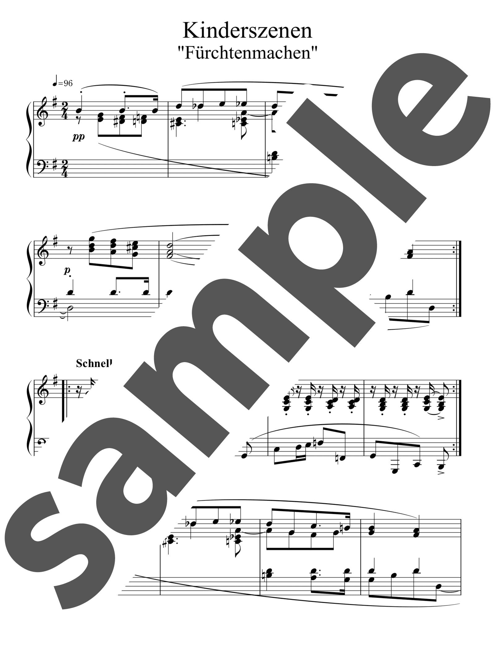 「「子供の情景」よりこわがらせ」のサンプル楽譜