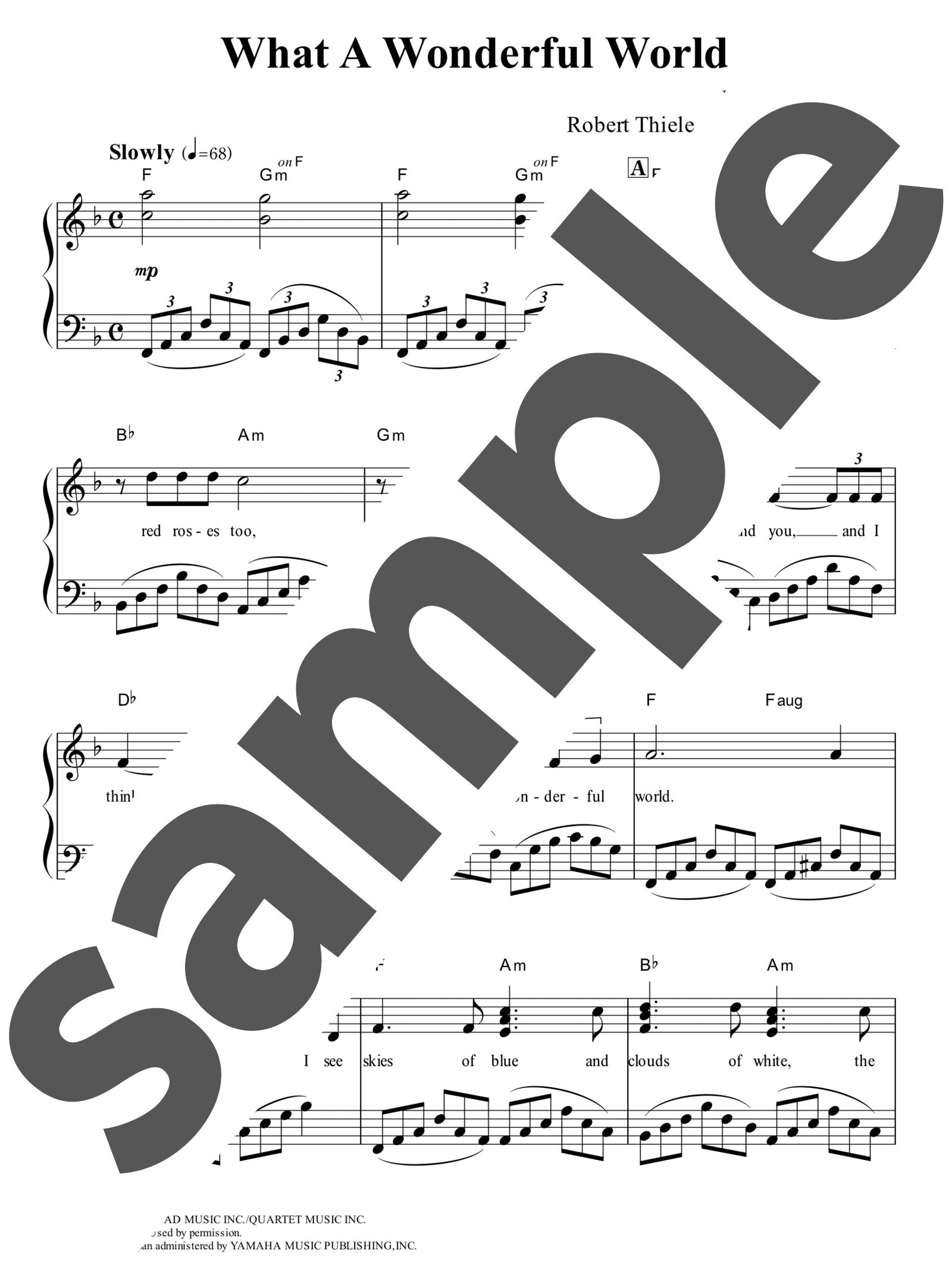 「この素晴らしき世界」のサンプル楽譜