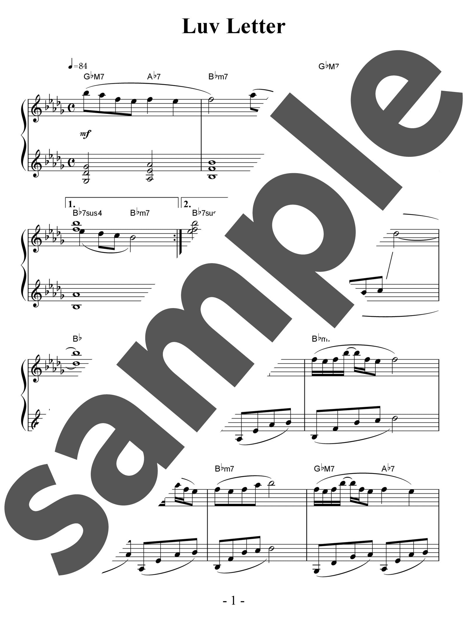「Luv Letter」のサンプル楽譜