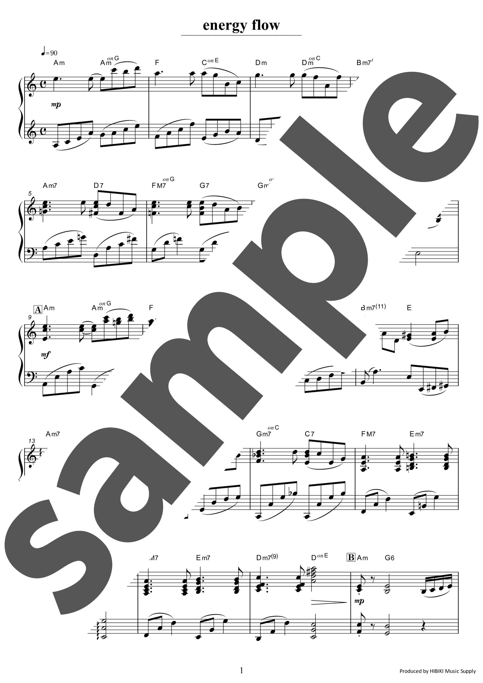 「energy flow」のサンプル楽譜
