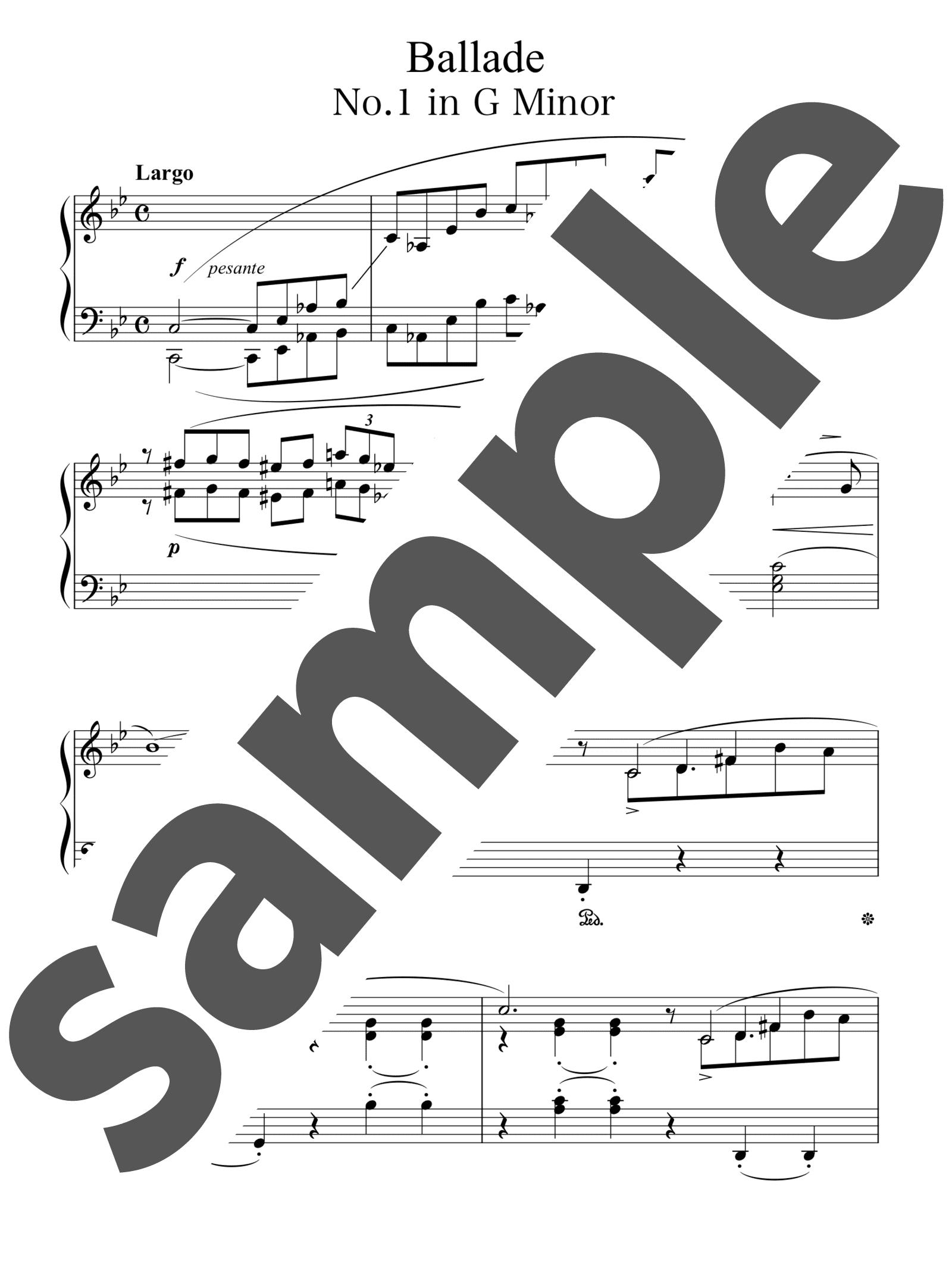 「バラード第1番 ト短調」のサンプル楽譜