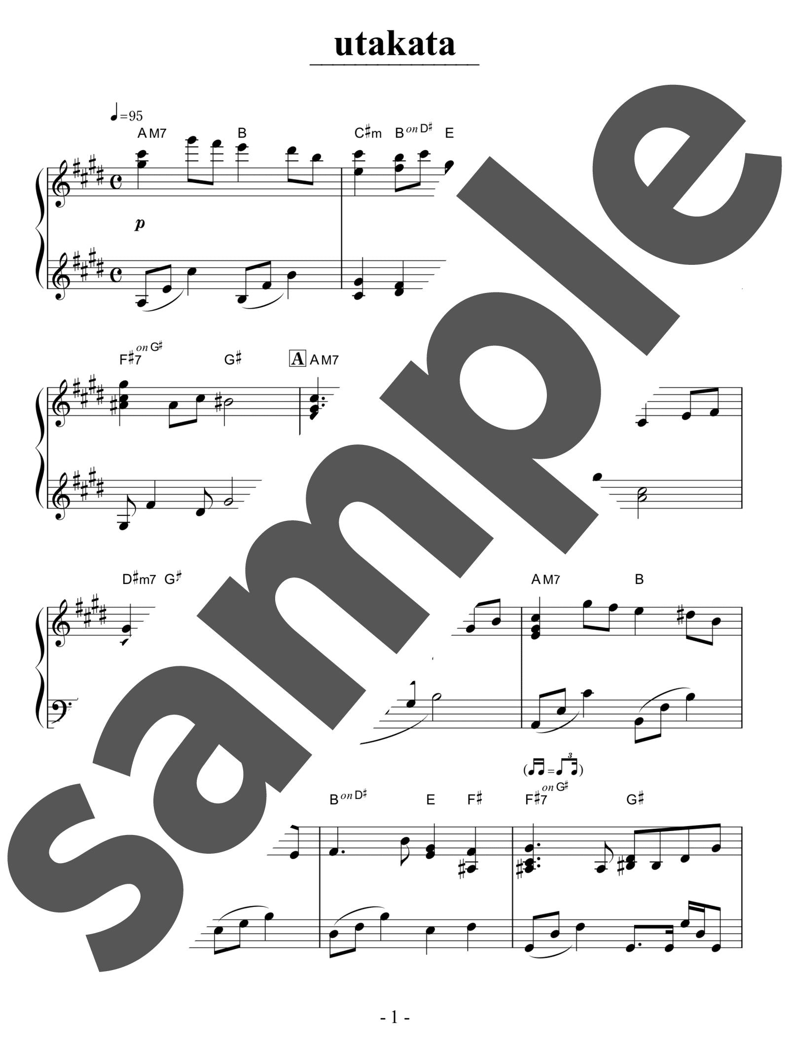 「Utakata」のサンプル楽譜