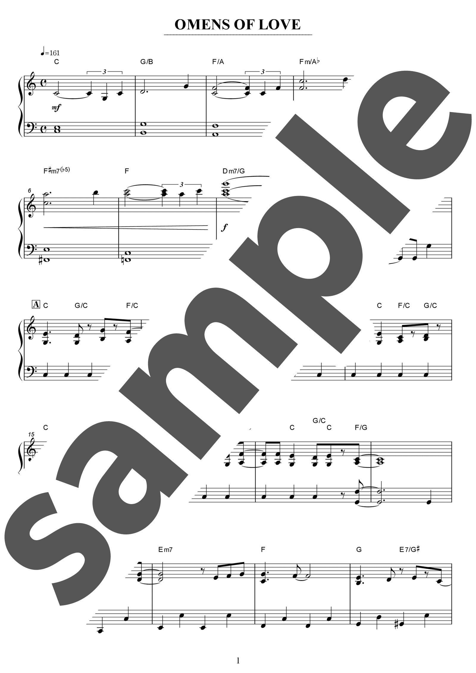 「Omens of Love」のサンプル楽譜